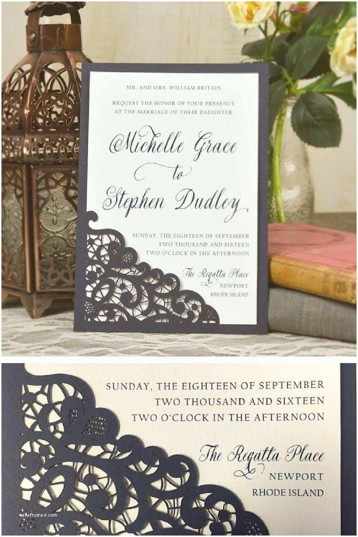 Affordable Wedding Invitations Best 25 Lace Wedding Invitations Ideas On Pinterest