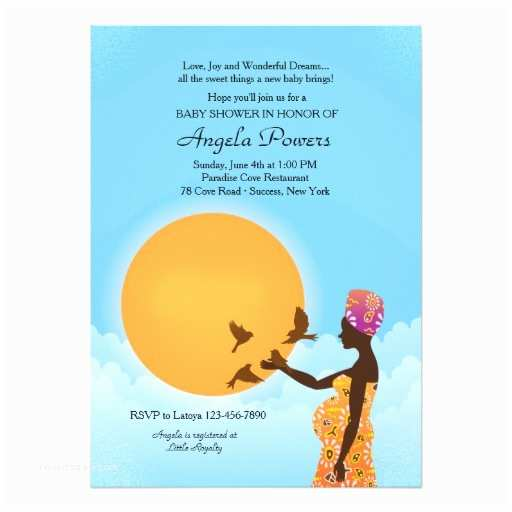 African American Baby Shower Invitations African American Baby Shower Invitation