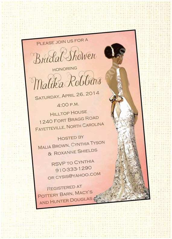 African themed Wedding Invitations African American Wedding African American Bridal Shower