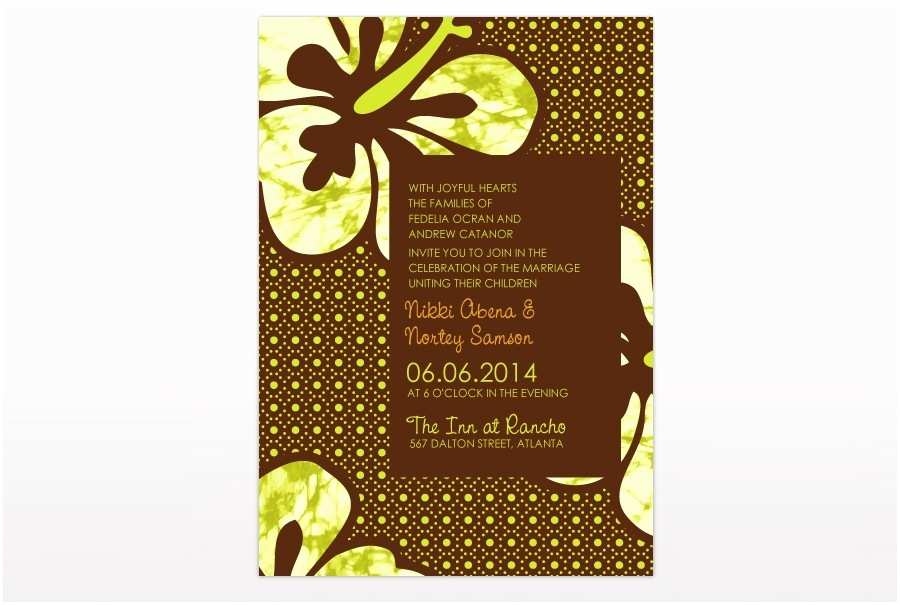 African themed Wedding Invitations African Dutch Wax Print Inspired Wedding Invitation