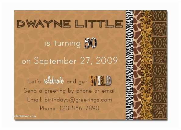 African themed Wedding Invitations African theme Birthday Invitation