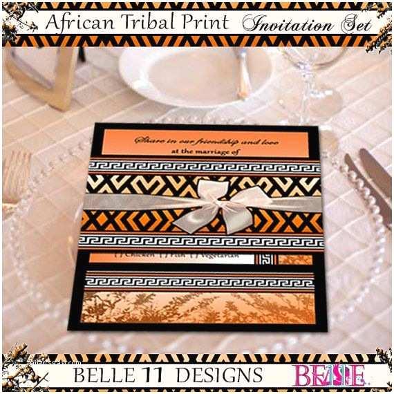 African themed Wedding Invitations African theme Printable Wedding Invitation Zebra and