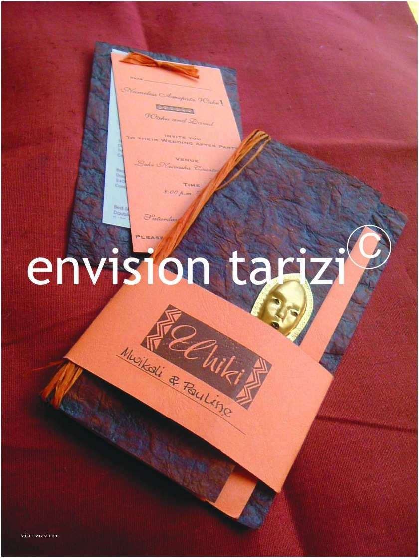 African themed Wedding Invitations Envision Tarizi