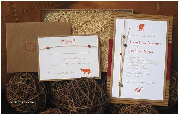 African themed Wedding Invitations Safari Wedding Invitationvendors Paper Olive Letterpress