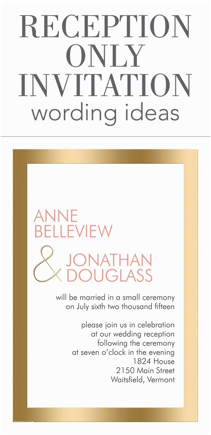 After Wedding Dinner Invitation Wording 25 Best Ideas About Reception Only Invitations On