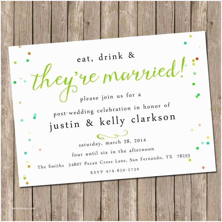 After Wedding Dinner Invitation Wording 9 Best Post Reception Invitations Images On Pinterest