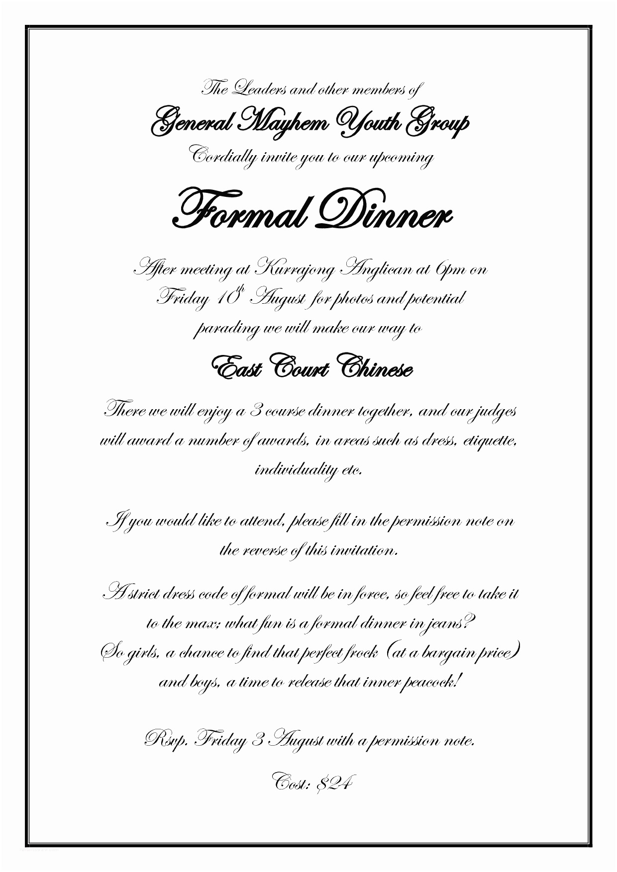 After Wedding Dinner Invitation Wording Dinner Party Invitation Wording