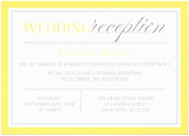 After Wedding Dinner Invitation Wording Private
