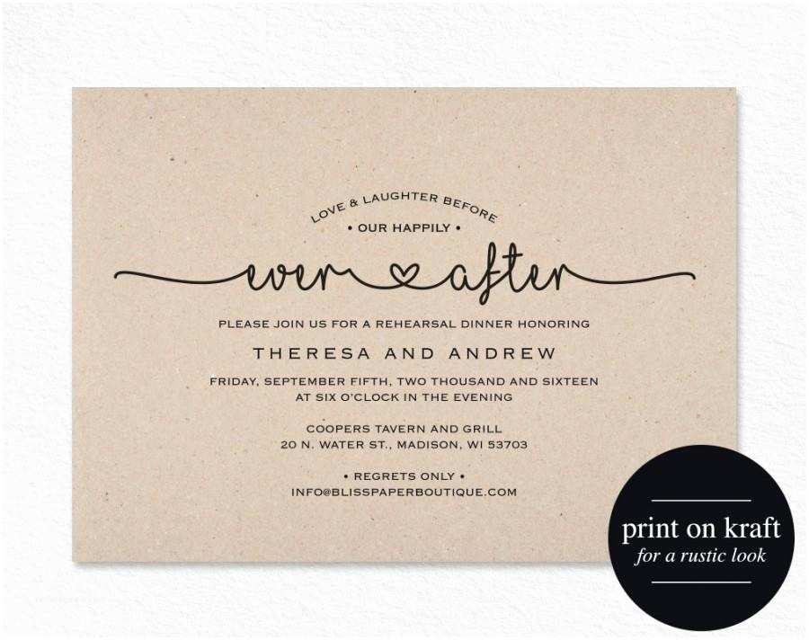 After Wedding Dinner Invitation Wording Rehearsal Dinner Invitation Love and Laughter before Our