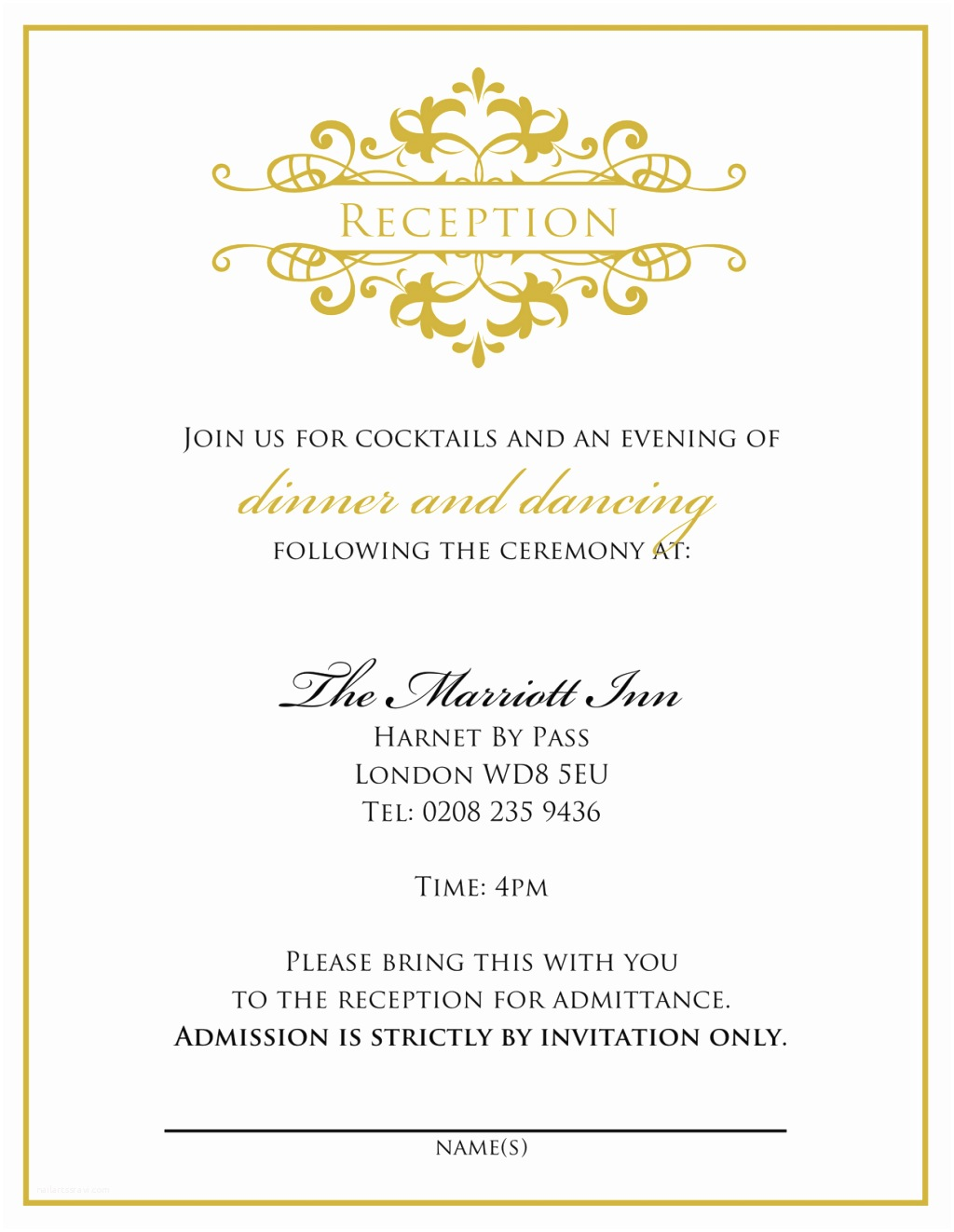 After Wedding Dinner Invitation Wording Wedding Invitation Wording From Bride and Groom