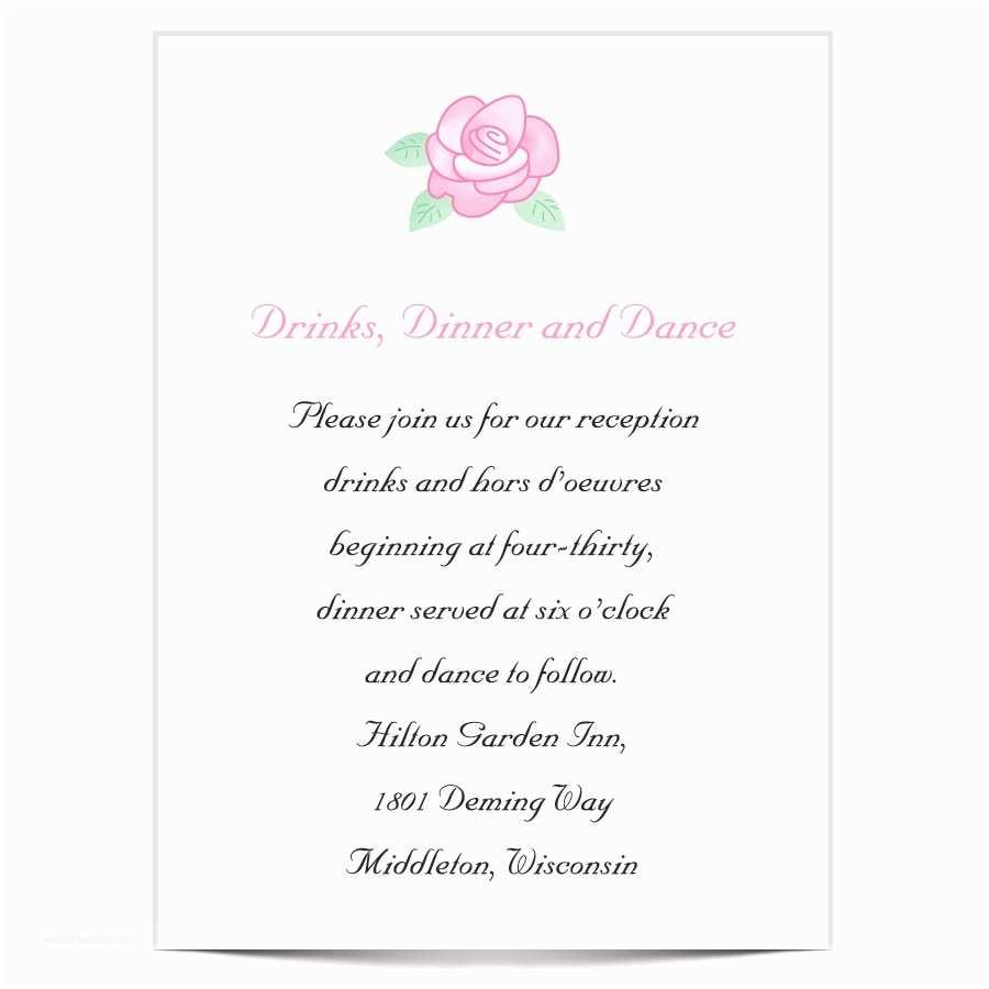 After Wedding Dinner Invitation Wording Wedding Reception Invitation Wording