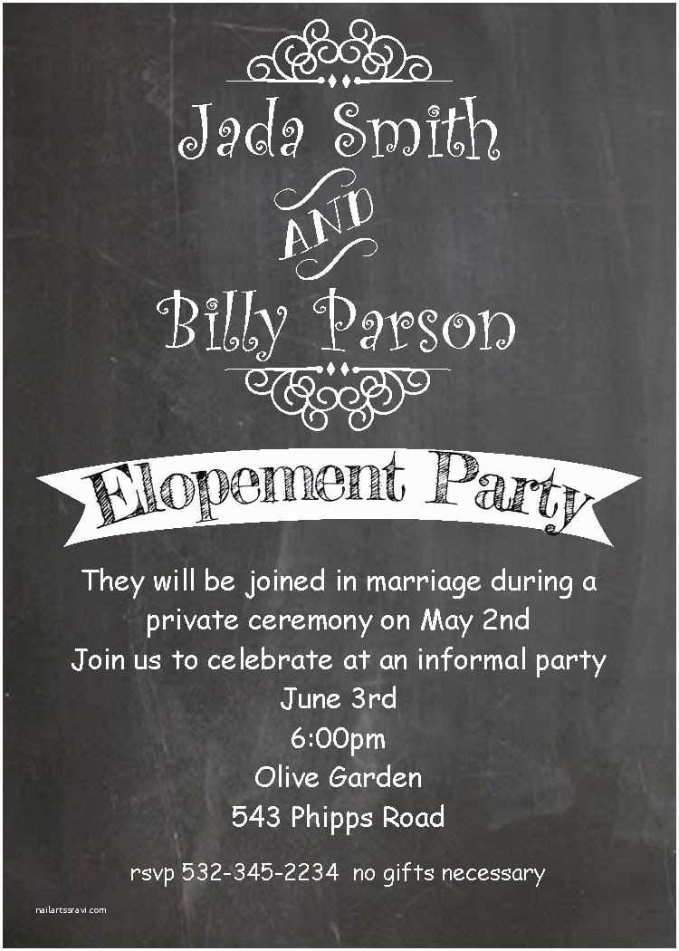 After Wedding Party Invitations after the Wedding Party Invitations or Elopement Party