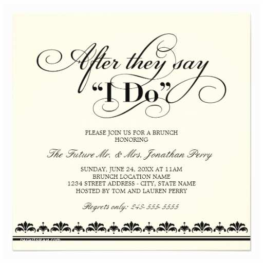 After Wedding Party Invitations Day after Wedding Brunch Invitation Wedding Vows
