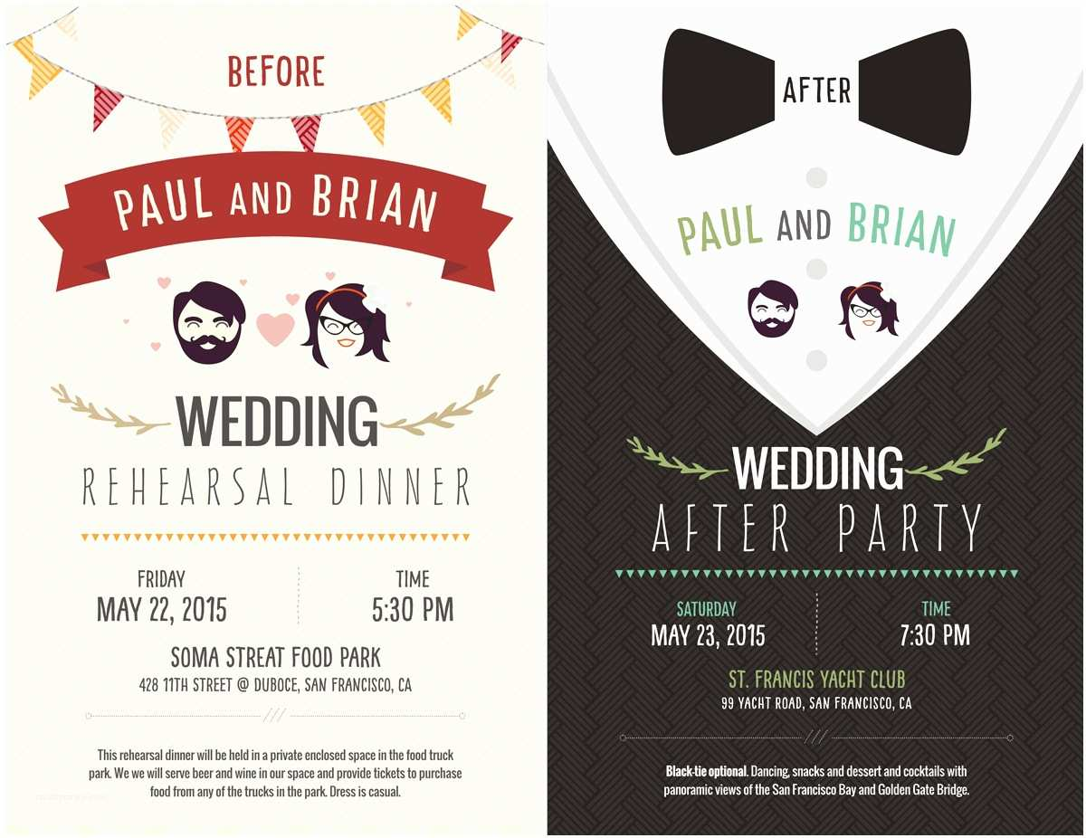 After Wedding Party Invitations Elegant Playful Postcard Design for Paul Hogan by