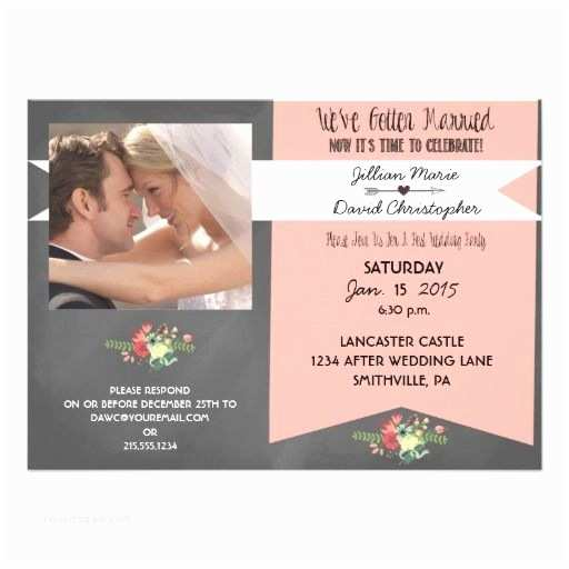 After Wedding Party Invitations Floral after Wedding Party Invitation