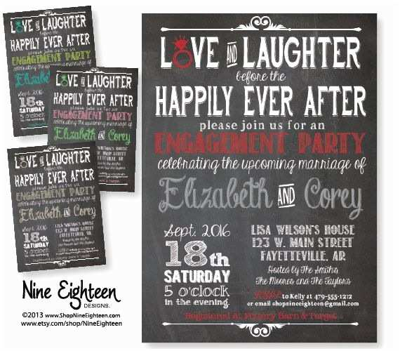 After Wedding Party Invitations Love & Laughter before Happily Ever after by Nineeighteen