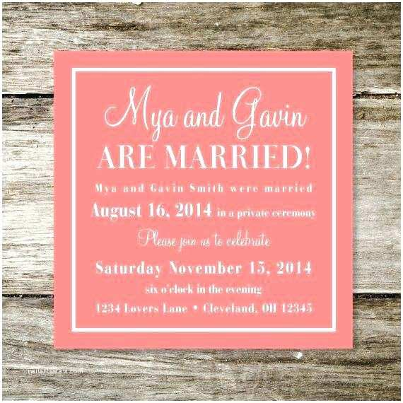 After Wedding Party Invitations New Wedding Reception Invitation Wording after Private