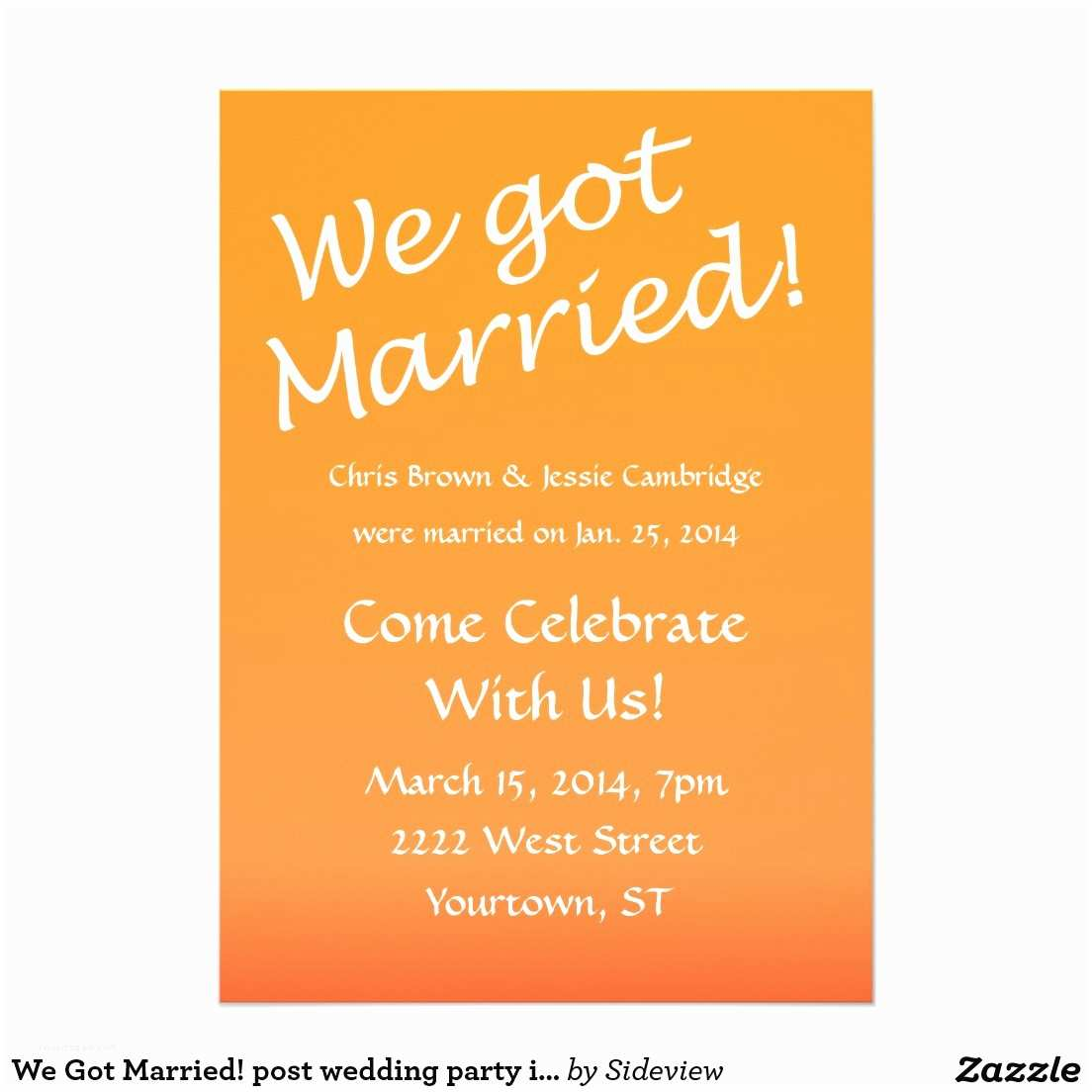 After Wedding Party Invitations Post Wedding Reception Invitation Wording