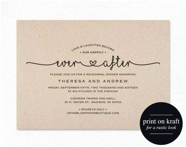 After Wedding Party Invitations Rehearsal Dinner Invitation Love and Laughter before Our