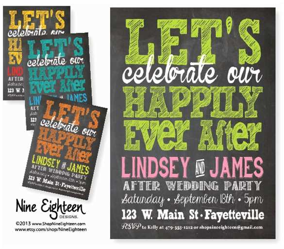 After Wedding Party Invitations Wedding Party Invitation Template – 20 Psd formats