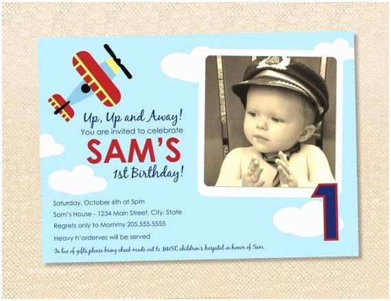 Airplane Birthday Invitations 24 Best Images About Birthday Ideas 1st Airplane On