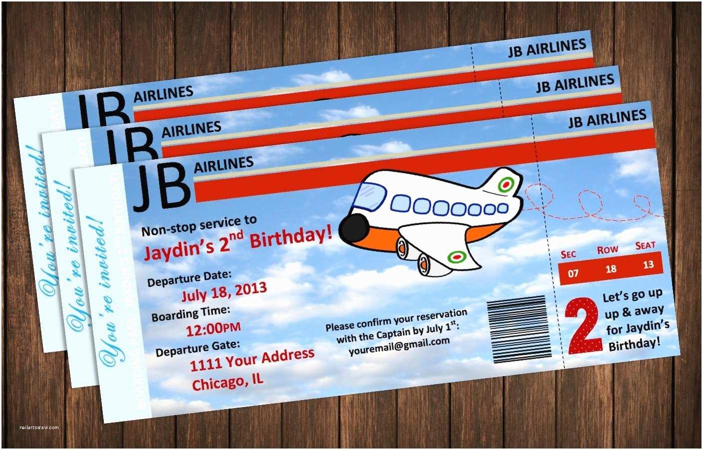 Airplane Birthday Invitations Airplane Birthday Invitations – Gangcraft
