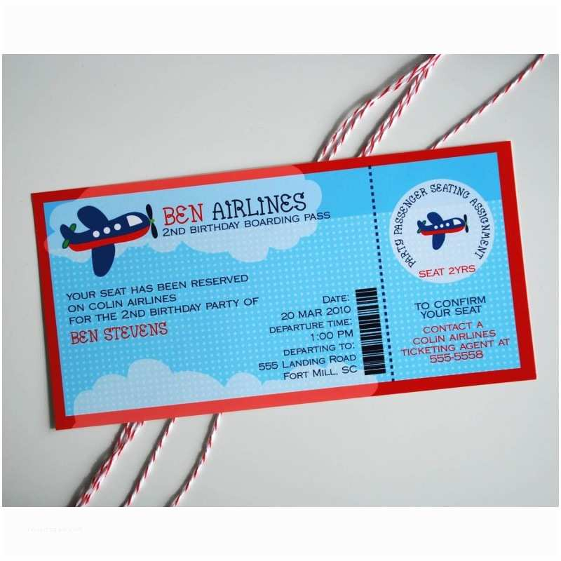 Airplane Birthday Invitations Airplane Birthday Party Printable Invitation