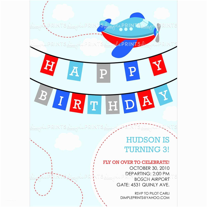 Airplane Birthday Invitations Airplane Printable Birthday Invitation Dimple Prints Shop