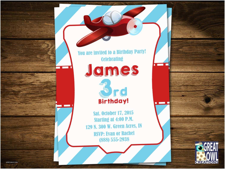 Airplane Birthday Invitations Airplanes Birthday Invitations Airplane by Greatowlcreations
