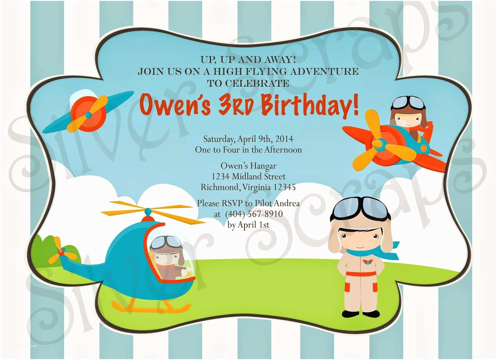aviator and airplanes birthday party