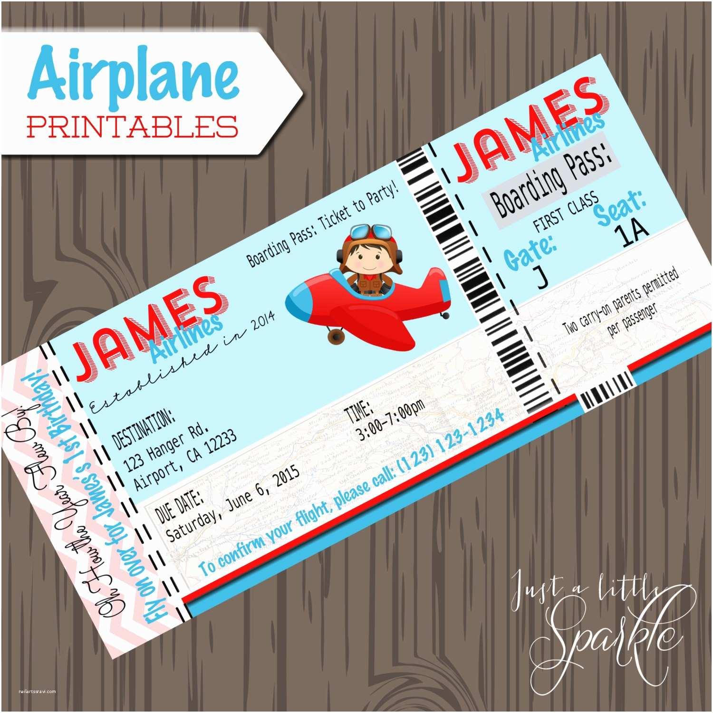 Airplane Birthday Invitations Pilot Invitations Cards Diy Lil Pilots Airplane Birthday