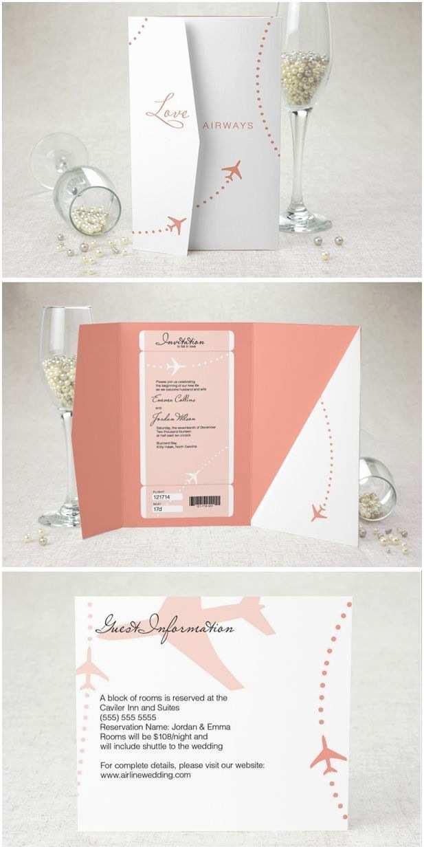 Airplane Wedding Invitations 25 Best Ideas About Aviation Wedding Theme On