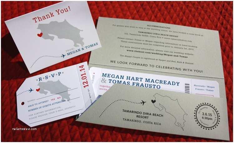 Airplane Wedding Invitations Airline Ticket Invitation –