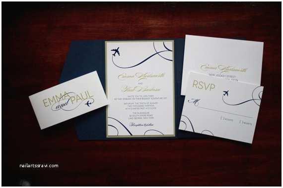Airplane Wedding Invitations Airplane Wedding Invitation Sample