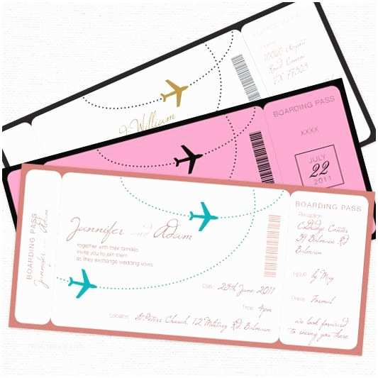 Airplane Wedding S E Fly With Me Boarding Pass Wedding