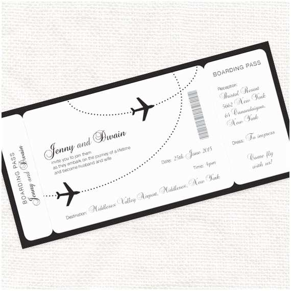 Airplane Wedding Invitations E Fly with Me Boarding Pass Wedding Invitation Printable
