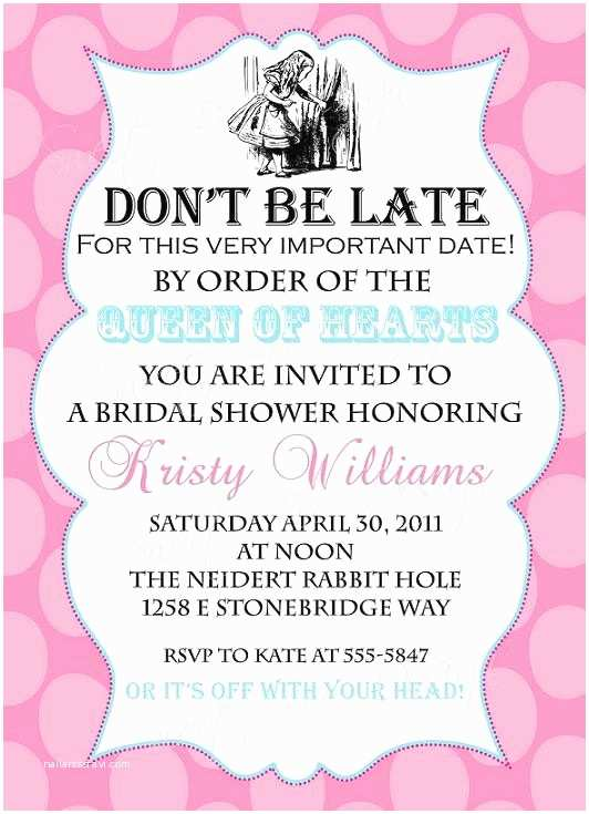 Alice In Wonderland Baby Shower Invitations Alice In Wonderland Bridal Invitation Alice In Wonderland