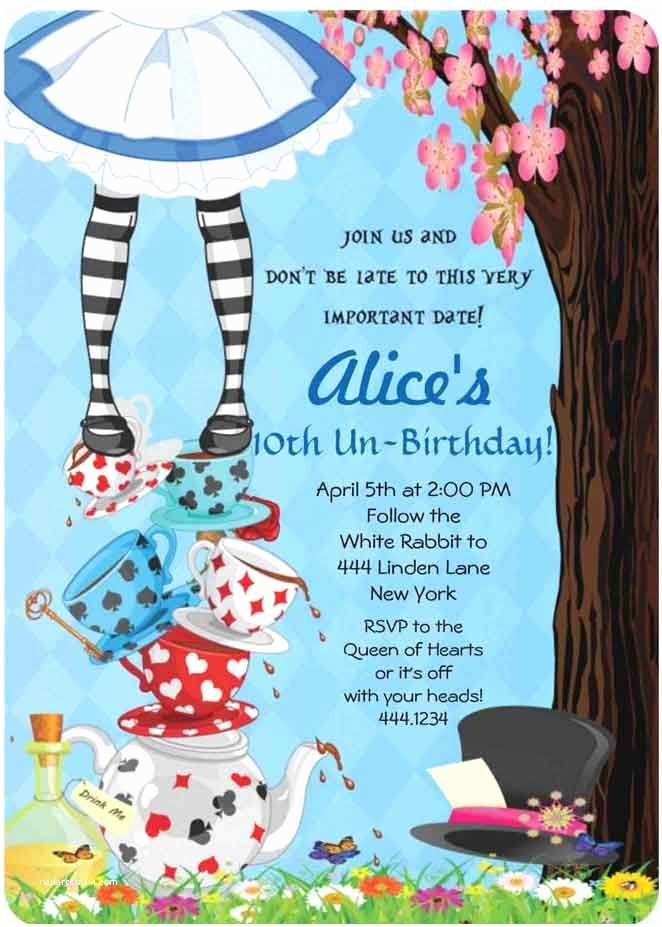 Alice In Wonderland Party Invitations 25 Best Ideas About Alice In Wonderland Invitations On