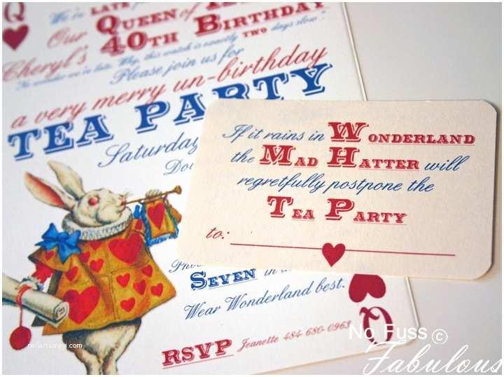 Alice In Wonderland Party Invitations Adorable Alice Invites