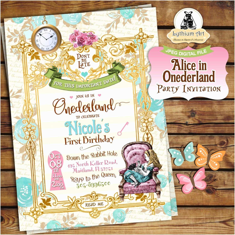Alice In Wonderland Party Invitations Alice In Ederland Invitation Alice In Wonderland