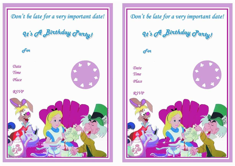 Alice In Wonderland Party Invitations Alice In Wonderland Birthday Invitations – Birthday Printable