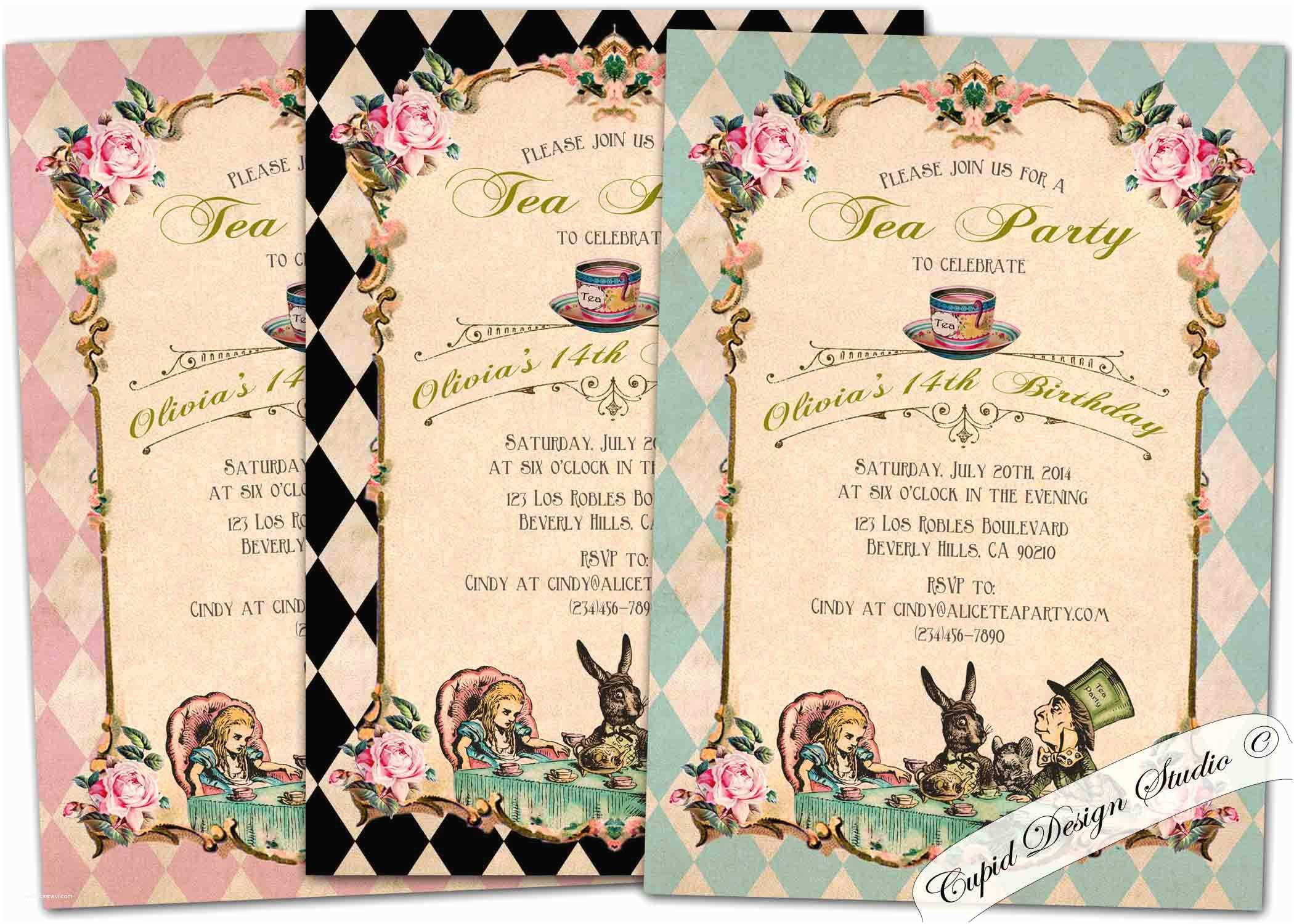 Alice In Wonderland Party Invitations Alice In Wonderland Party Invitations – Gangcraft