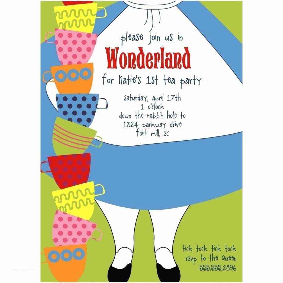 Alice In Wonderland Party Invitations Alice In Wonderland Party Invitations