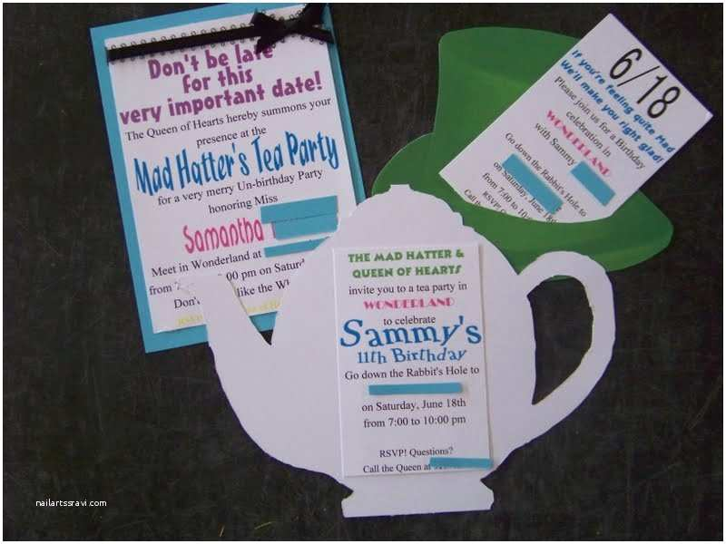 Alice In Wonderland Party Invitations Wonderland Party Invites
