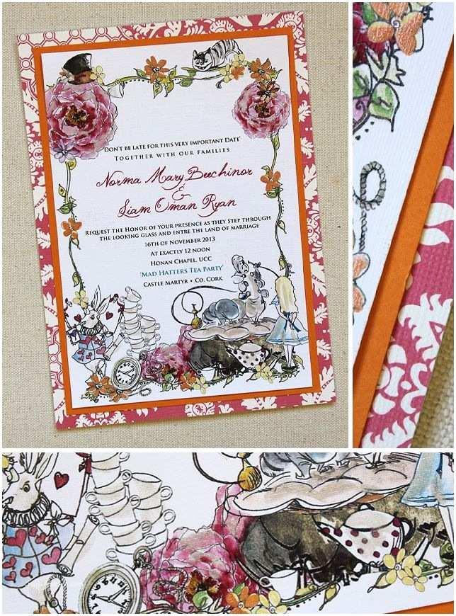 Alice In Wonderland Wedding Invitation Template 35 Best Alice In Wonderland Weddings Images On Pinterest