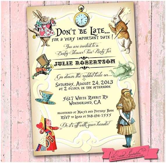 Alice In Wonderland Wedding Invitation Template Alice In Wonderland Invitation – orderecigsjuicefo