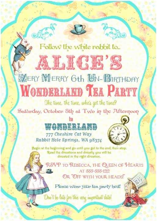 Alice In Wonderland Wedding Invitation Template Alice In Wonderland Invitation Template Free