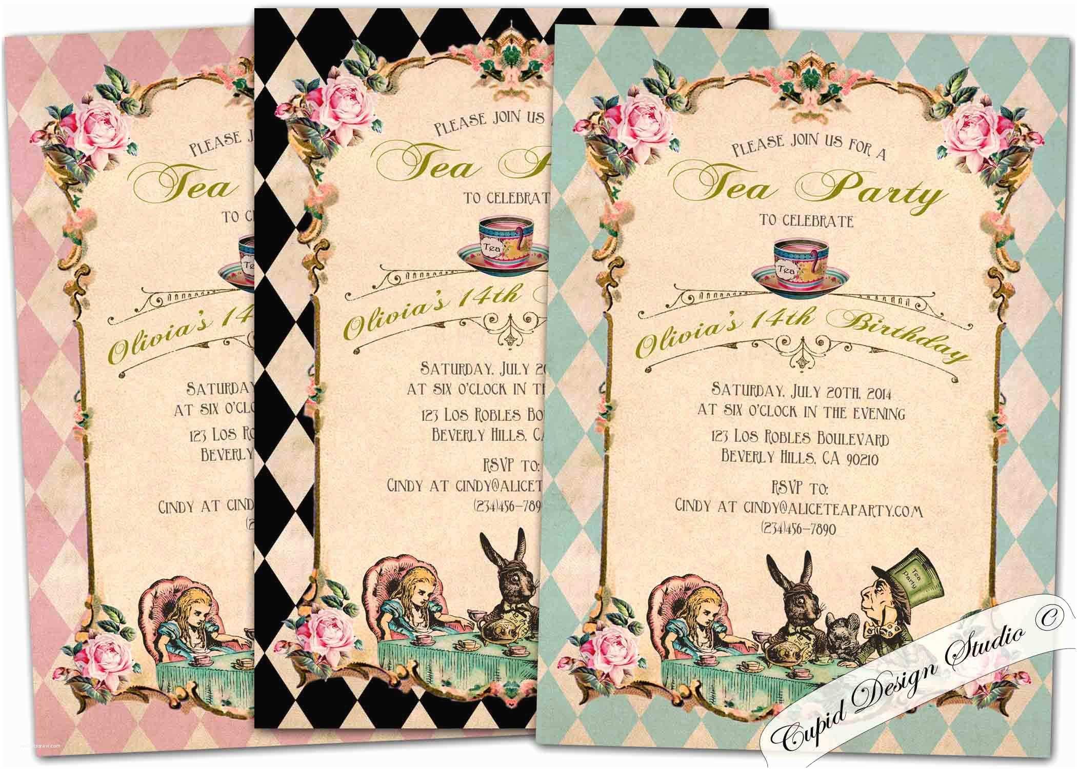 Alice In Wonderland Wedding Invitation Template Best Selection Alice
