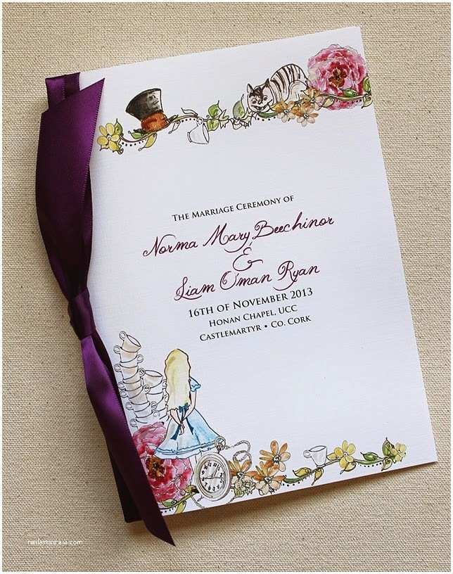 Alice In Wonderland Wedding Invitation Template Alice In Wonderland Wedding Invitations