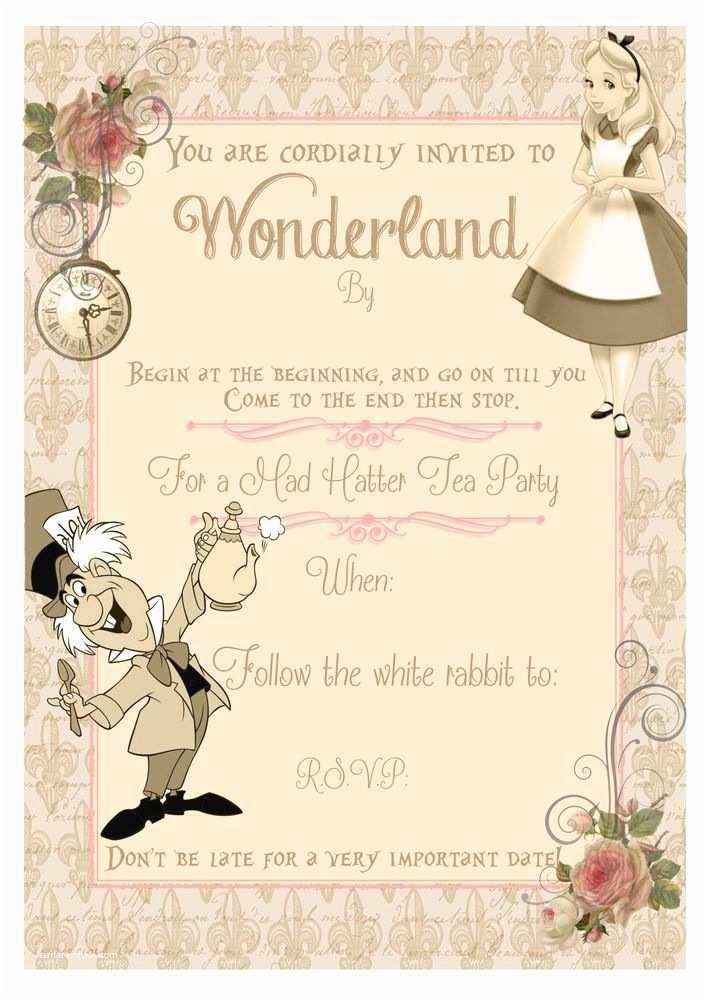 Alice In Wonderland Wedding Invitation Template Frigidaire Glass Tray Microwave